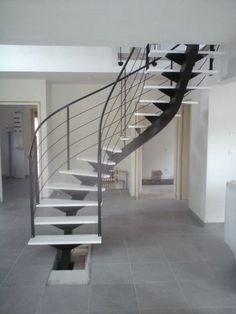escalier metallique nantes loire atlantique escalier metal bois acier sur mesure fer 44 vendee 85 Escalier 2-4 tournant