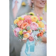 Fresh and unique spring wedding bouquet ideas for springtime brides ❤ liked on Polyvore featuring home, home decor and spring home decor
