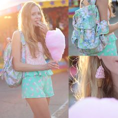Forever 21 Ice Cream Print Shorts, Target Watercolour Backpack