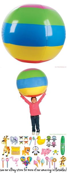 Balls and Balloons 145987: (3) Huge 48 Inch - 4 Foot Beach Ball Inflatable Pool Ball Toy Party Inflate -> BUY IT NOW ONLY: $26.13 on #eBay #balls #balloons #beach #inflatable #party #inflate