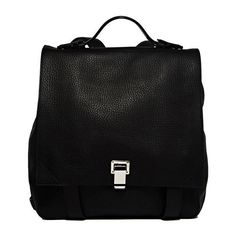 Proenza Schouler Courier Backpack (2,600 CAD) ❤ liked on Polyvore featuring bags, backpacks, backpack, proenza schouler bag, backpacks bags, proenza schouler backpack, black bag and knapsack bags