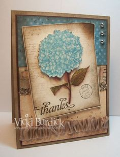 Vintage Thanks by justcrazy - Cards and Paper Crafts at Splitcoaststampers