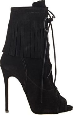 Giuseppe Zanotti Fringe Lace-Up Ankle Boots         @kimludcom