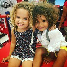 Aria - 3 Years • African American & Caucasian ❤ Easton - 3 Years • German, Irish, English, Welsh, Native American & African American ❤ FOLLOW @beautifulmixedkids on instagram