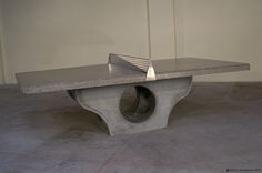 Concrete Table Tennis Table for long-lasting outdoor installations
