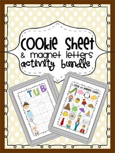 Great pack of activities to use with cookie sheets and magnet letters- includes tons of differentiated activities for Letter ID, Beg/Mid/End Sounds, CVC, CVCE, Sight Words, Color Words, Word Families, and more!!!  Great for an independent literacy center- 74 pages of activities!!