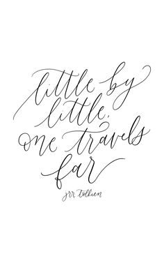 JRR Tolkien, calligraphy quote, handlettering