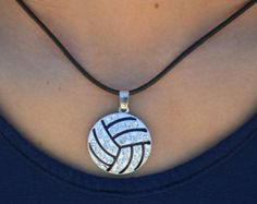 volleyball necklace on Etsy, a global handmade and vintage marketplace.