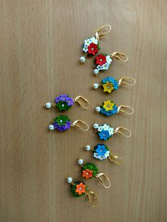 Polymer Clay Canes, Polymer Clay Flowers, Polymer Clay Earrings, Paper Quilling Earrings, Clays, Rakhi, Clay Charms, Diy Earrings, How To Make Beads