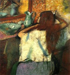Degas, Edgar (French, 1834-1917) - Woman at her Toilette - 1885-1990 (by *Huismus)