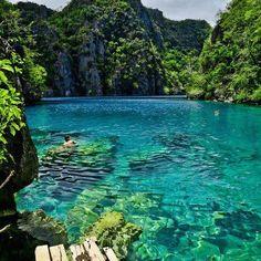 Blue water lake