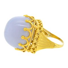 Blue Crown of Revisionist Chic, Ring | From a unique collection of vintage cocktail rings at http://www.1stdibs.com/jewelry/rings/cocktail-rings/
