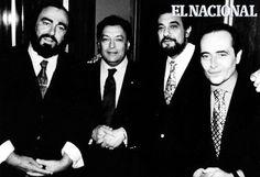 José Carreras Junto a Luciano Pavarotti y Plácido Domingo, cantantes de opera. (ARCHIVO EL NACIONAL)