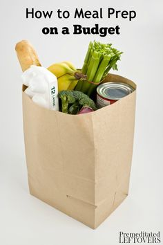 If you have a limited budget for groceries, follow these tips on How to Meal Prep on a Budget. They include frugal ways to grocery shop and choose recipes.