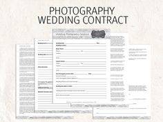 wedding photography contract template on pinterest wedding photography contract photography. Black Bedroom Furniture Sets. Home Design Ideas