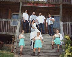 Wedding party group shot! @shilowann