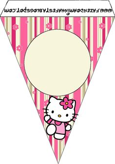 Hello Kitty with Flowers: Free Party Printables. - Oh My Fiesta! in english Free Printable Bookmarks, Free Printable Banner, Printable Scrapbook Paper, Birthday Bunting, Girl Birthday Themes, Kids Party Themes, Party Printables, Decoracion Hello Kitty, Hello Kitty Birthday Invitations