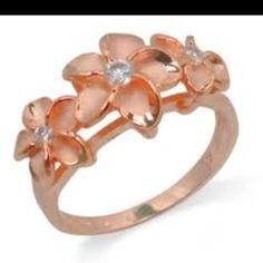 Rose gold flower ring