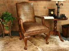 Leather Accent Chair with Scripture a unique pastor appreciation gift idea