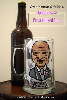 If you're looking for a great groomsman gift idea, this Homebrew & Personalized Mug is perfect for your groomsmen who drink beer. Presents For Friends, Gifts For Him, Wine Bottle Centerpieces, Wine Carrier, Asking Bridesmaids, Romantic Wedding Inspiration, Groomsmen Proposal, Wedding Planning Tips, Personalized Mugs