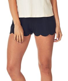 Look at this Pinkblush Black Scalloped Shorts on #zulily today!