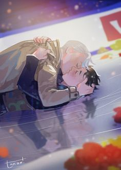 "tanaw: "" You don't have to say anything, just stay by my side!""  ユーリ!!! on ICE Yuri!!! on Ice 