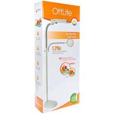 Ottlite 13w Craft Organizer With Magnifier Plastic Floor Lamp