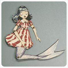 Mermaid Paper Doll