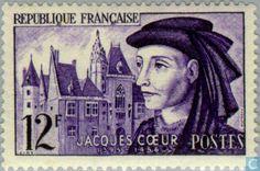 Stamps - France [FRA] - Coeur, Jacques 1955