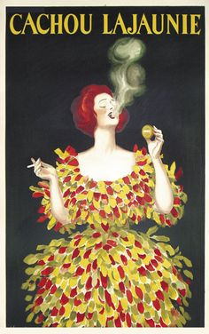 Leonetto Capiello, artwork for Cachou Lajaunie, a french breath mint, 1920.Source