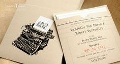 Retro typewriter invitations