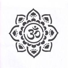 Yoga Stencil, Mandala Stencil, Om, Mylar Stencil, Om Stencil, Sanskrit, Om Symbol, Painting Stencil, pochoir, art supply stencil, mehndi