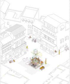 Proyecto del mes: Almudena Cano > Estrategias de regeneración del espacio público. Ahmedabad.