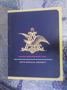 Budweiser Booklet Annual Report Financial Shareholder Vtg 1970 Anheuser Busch