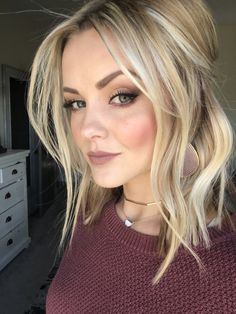 66 Beautiful Long Bob Hairstyles With Layers For 2018 - Style Easily Ombré Hair, Hair Dos, Winter Hairstyles, Pretty Hairstyles, Blonde Long Bob Hairstyles, Cute Medium Length Hairstyles, Medium Hair Styles, Short Hair Styles, Pinterest Hair