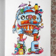 Эти картинки поднимают настроение ))) #раскраскадлявзрослых #антистресс #раскраскаантистресс #doodle #doodleinvasion #дудл #дудлы #вторжениедудлов #arttherapymania #colour #copic #zifflinscoloringbook #zifflindoodle #zifflin @zifflin