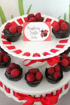Lovebug 2nd Birthday Party via Kara's Party Ideas: Tarts