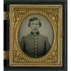 A hand-colored, 1/6th plate ruby ambrotype; Lieutenant Smith Whitfield of Co. B, 24th Tennessee Infantry Regiment in uniform.  Liljenquist Family Collection; the Library of Congress.