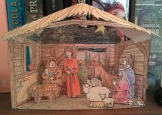 Nativity Diorama Christmas Coloring Pages 04 630x894