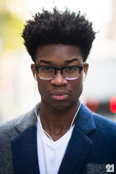 neffyfrofro:    weirdgasm:    He kinda sexy, but I can't take my eyes off the specs though.    I love his hair & eye brows !