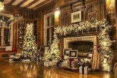 Christmas Countdown: The Ultimate Christmas Wedding Christmas Fireplace, Christmas Mantels, Fireplace Mantels, Christmas Home, Christmas Holidays, Library Fireplace, Fireplaces, Merry Christmas, Christmas Countdown
