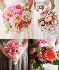 Hey Look - Event styling, design inspiration, DIY ideas and more: BOUQUETS: FROM YELLOW TO PINK