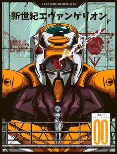 Evangelion Poster - Eva an art print by Jhony Caballero - INPRNT Rei Ayanami, Neon Genesis Evangelion, Manga Anime, Anime Art, Manga Girl, Anime Girls, Evangelion Shinji, Arte Cyberpunk, Gundam Art