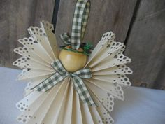 Country angel Christmas ornament