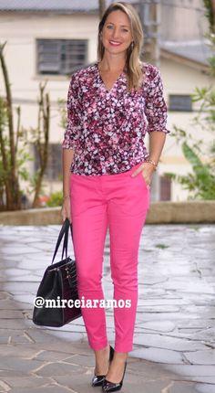 Look de trabalho - look do dia - look corporativo - moda no trabalho - work outfit - office outfit - look primavera - outfit- calça pink - pink pants