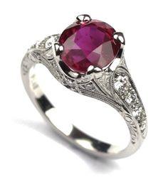 Ruby & Platinum Ring