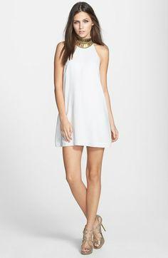 Keepsake the Label 'Modern Myth' Embellished Halter Collar Shift Dress