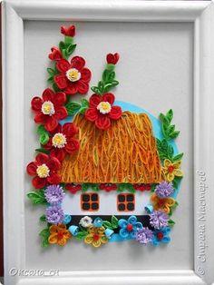 Картина панно рисунок Квиллинг Моя Украина Бумажные полосы фото 1