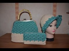 La Borsa Violet all'uncinetto a punto Leaf. Crochet bag - YouTube