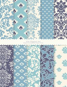 Damask Digital Scrapbook Paper Pack 8.5x11300 dpi  by VNdigitalart  https://www.etsy.com/listing/65971980/damask-digital-scrapbook-paper-pack?ref=shop_home_active_23